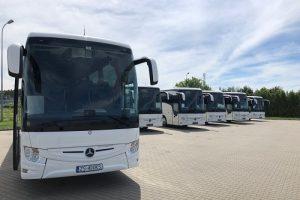 prezentacja nowych autokarów marki Mercedes - wynajem autokarów w biurze podróży Odra Travel w Szczecinie - zapraszamy!