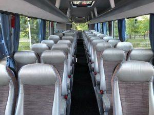 wnętrze autokaru MAN prezentowanego przez biuro podróży OdraTravel. Proponujemy wynajem autokarów / autobusów / busów.