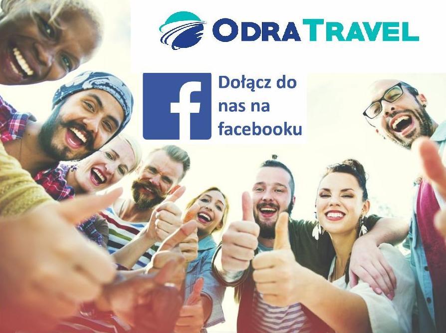 Facebook OdraTravel zawsze najlepsze oferty, wiadomości, ciekawostki turystyczne. Prowadzi Biuro Podróży OdraTravel w Szczecinie.
